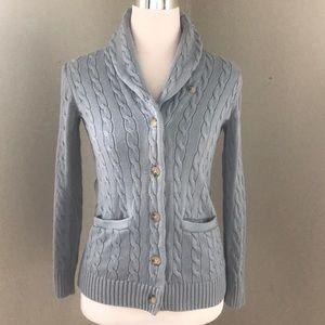 Ralph Lauren Blue Cotton Sweater Sz Xs